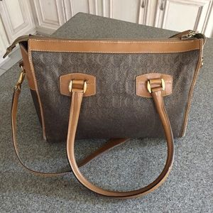 Vintage Gucci Tan Brown Leather Hand/Shoulder Bag,